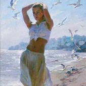 A Walk on the Beach, by Michael & Inessa Garmash